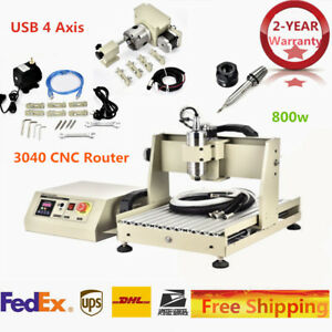 4axis 800w Cnc 3040 Usb Router Engraver 3d Engraving Machine Motor Water cooling