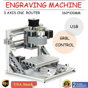 Cnc1610 Mini Diy Router Engraver Pcb Milling Machine Parts Module W 500mw Laser