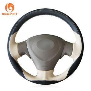 Diy Beige Leather Steering Wheel Cover For Toyota Corolla Matrix Auris 2007 2009