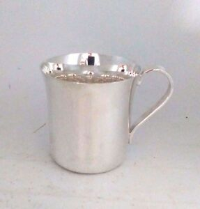 Antique Tiffany Co Makers Sterling Silver Mirrored Baby Cup 23245 No Monogram