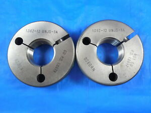 1 1 16 12 Unjs 3a Thread Ring Gages 1 0625 Go No Go Pds 1 0079 1 0037