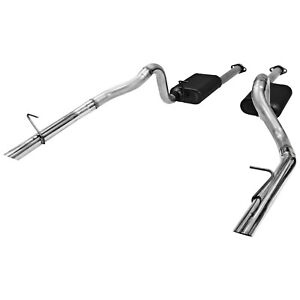 Flowmaster 86 93 Mustang Gt Lx 5 0l American Thunder Cat Back System 409s Dual