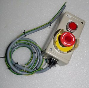 New Control Electric Power Box Fuji Emergency Stop Illuminated Red Pushbutton