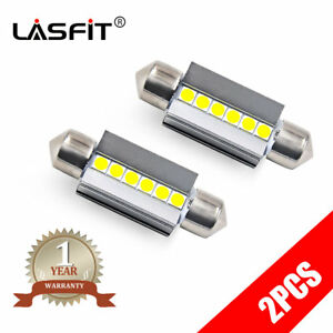 Lasfit 6418 C5w 36mm Festoon Led License Plate Tag Light Bulb 6000k Bright White