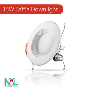 4 72 X 5 6 Inch 15w Downlight Baffle Led Recessed Dimmable Retrofit Can Light