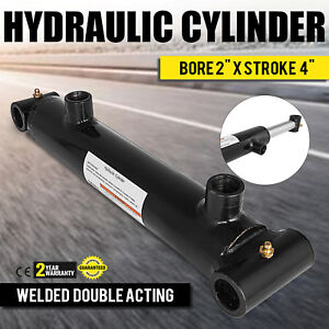 Hydraulic Cylinder 2 Bore 4 Stroke Double Acting Construction Top Cross Tube