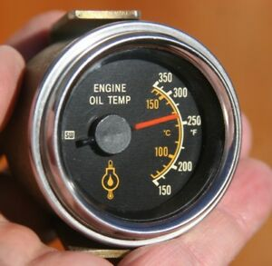 Stewart Warner Electric Oil Temperature Gauge World Wide Series Rear Light