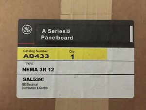 G e Ab433 Outdoor Panel Enclosure Nema 3r Nema 12