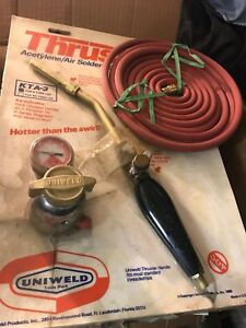 Uniweld Acetylene Air b tank Screw Connect Kta 3 Thruster Solder braze