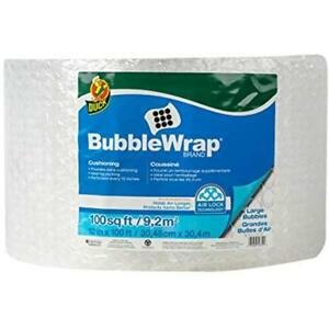 Duck Bubble Wrap Brand Large Roll 5 16 Cushioning 12 X 100 Perforated