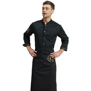 Chef Uniform Long Sleeve Chinoiserie T c Hotel Kitchen Overalls Jacket Apron