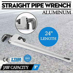 Aluminum Straight Pipe Wrench 24 Plumbing Large Duty Excellent Good Prestige