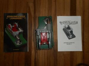 Vintage Stirling Cycle Solar Engines Phoenix Az W Manual Book Hot Air Toy