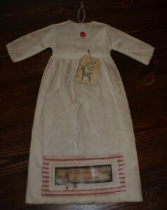 Grungy Hanging Doll Dress Primitive Cupboard 18 Prim Christmas Folk Art Tag