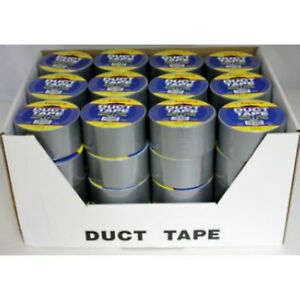 Silver Gray Duct Tape 1 89 X 10 Yards Case Pack 48 Rolls Wholesale Bulk Lot