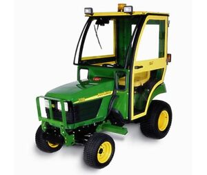 Complete Curtis Hard Sided Cab System For John Deere 2305 2210 Compact Tractor