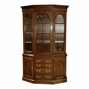 Harden Two Piece Traditional Style Cherry Lighted China Cabinet