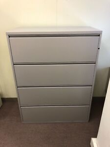 4 4 drawer Lateral Size File Cabinets By Herman Miller Meridian W lock