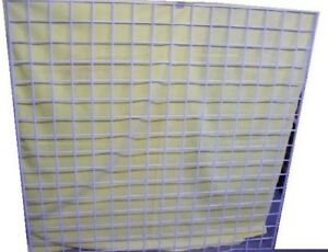 Store Display Fixtures 2 Gridwire Panels White 48 Wide X 48 Tall