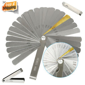 Steel 32 Blades Feeler Gauge Measurement Tool For Measuring Gap Width Thickness