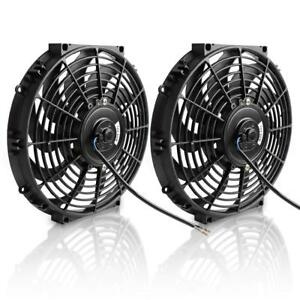 12 Electric Radiator Cooling Fan 1550 Cfm Universal Slim Engine Fan 12v 80w