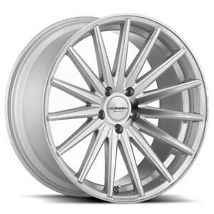 New 4 Vossen Vfs2 5x120 Et20 Silver Polished Set Of 4 19 Or 20 Bmw Acura