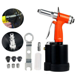 Air Hydraulic Pop Rivet Gun 1 4 inch Pneumatic Riveting Gun With 4 Noses
