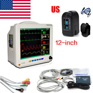 Portable Multi parameter Monitor Patient Monitor Nibp Spo2 Ecg Temp Resp Pr Best