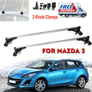2x Car Top Luggage Roof Rack 47 48 Inch Bar Cargo Aluminum For Mazda 3 2006 17