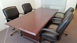 Traditional Hon Conference Table Cherry Wood Laminate