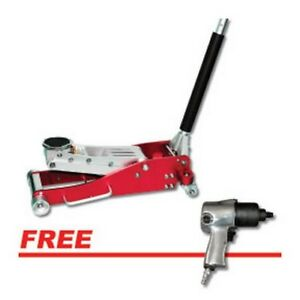 3 Ton Low Profile Aluminum Jack W free Impact Wrench Atd 7343iw Brand New