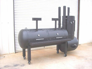 New Bbq Pit Smoker Cooker And Charcoal Grill Stationary