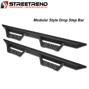 For 2015 2019 Colorado canyon Extended Matte Black Modular Drop Step Nerf Bars