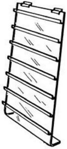 Store Display Fixtures 4 New 7 tier 8 wx18 h Acrylic Slatwall Jewelry Card Disp