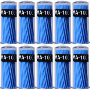 10boxes Dental Micro Brush Disposable Applicator Dental Bendable Stick Large