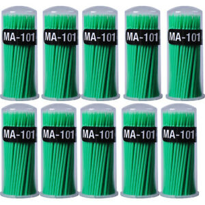 10boxes Dental Micro Brush Disposable Applicator Dental Bendable Stick Medium