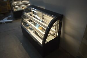 Countertop 47 Bekery Cabinet Display Case Glass Refrigerated Cake Showcase 220