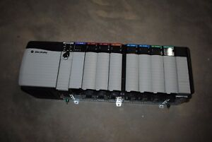 Allen Bradley Controllogix Loaded 10 Slot Rack Complete System With 1756 l61