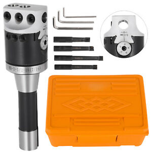 2 Boring Head R8 Shank 4pcs 1 2 Indexable Boring Bar Set 3 Hex Wrench