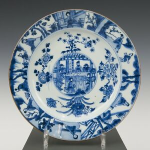 Nice Fine Chinese Blue White Plate Figures Kangxi Early 18th Ct