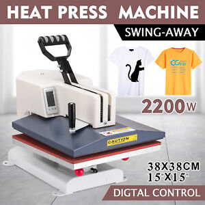 15 x15 Digital Heat Press Transfer Machine Plate Printer 0 399 Degrees 1800w