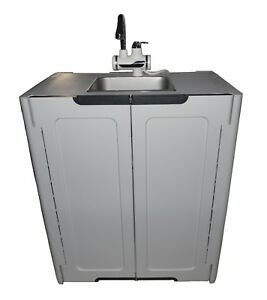 Portable Sink Hand Wash Sink Self Contained Sink Hot Water L gray