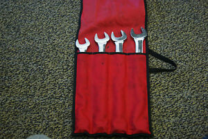 Snap on 4pc 12 point Sae Flank Drive Standard Combination Wrench Set Oex704b