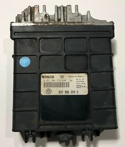 1996 1997 Volkswagen Jetta Golf 2 0l Ecm Ecu Pcm 037906259d 0 261 204 635 636