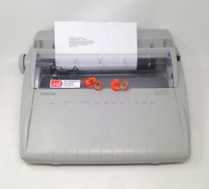 Brother Gx 6750 Electronic Typewriter W keyboard Cover 2 Rolls Correction Tape