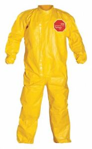 Collared Chemical Resistant Coveralls Cuff Tychem 2000 3xl Qc125tyl3x000400