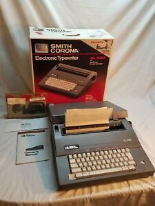 Vintage Smith Corona Sl500 5a Portable Electric Typewriter W Box Manual Ribbon