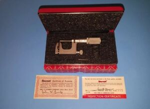 L s Starrett co Micrometer 220 Mul t anvil 0 1 Usa Step Mic With Case And Box
