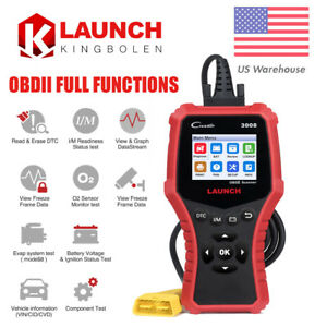 Obdii Launch Cr3008 Automotive Diagnostic Scan Tool Obd2 Full Engine Code Reader