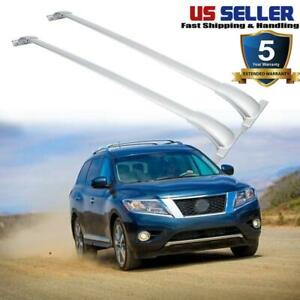 For 2013 17 Nissan Pathfinder Roof Rack Top Rail Cross Bars Set Luggage Carrier